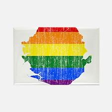 Sierra Leone Rainbow Pride Flag And Map Rectangle