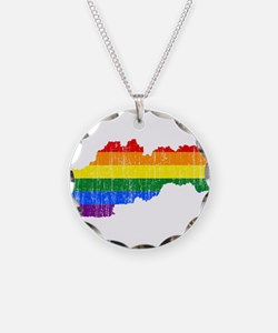 Slovakia Rainbow Pride Flag And Map Necklace