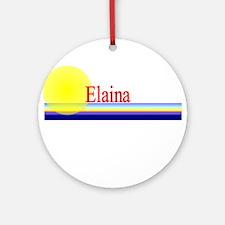 Elaina Ornament (Round)