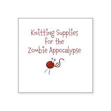 "KnitAppocalypse Square Sticker 3"" x 3"""