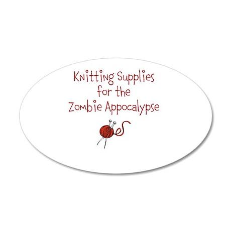 KnitAppocalypse 35x21 Oval Wall Decal