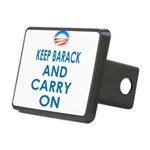 Keep Barack And Carry On Rectangular Hitch Cover