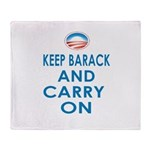 Keep Barack And Carry On Throw Blanket