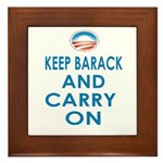 Keep Barack And Carry On Framed Tile