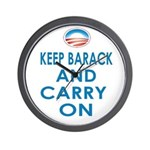 Keep Barack And Carry On Wall Clock