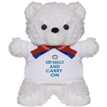 Keep Barack And Carry On Teddy Bear