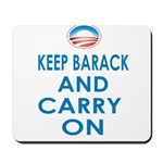 Keep Barack And Carry On Mousepad