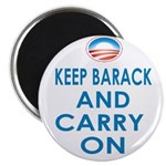 Keep Barack And Carry On Magnet