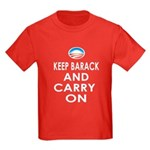 Keep Barack And Carry On Kids Dark T-Shirt