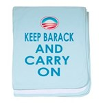 Keep Barack And Carry On baby blanket