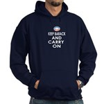 Keep Barack And Carry On Hoodie (dark)