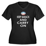 Keep Barack And Carry On Women's Plus Size V-Neck