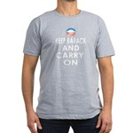 Keep Barack And Carry On Men's Fitted T-Shirt (dar