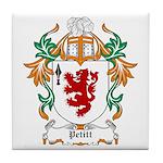 Pettit Coat of Arms Tile Coaster