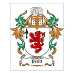 Pettit Coat of Arms Small Poster