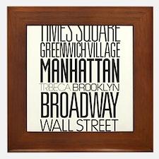 I Love NY Framed Tile
