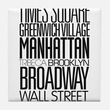 I Love NY Tile Coaster