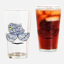 Playful Puli Drinking Glass