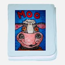 Moo Cow baby blanket