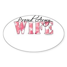 Proud Army Wife (Pink Butterfly Camo) Decal