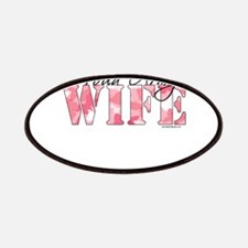 Proud Army Wife (Pink Butterfly Camo) Patches