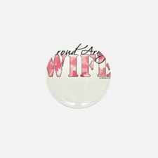 Proud Army Wife (Pink Butterfly Camo) Mini Button