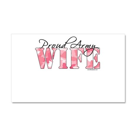 Proud Army Wife (Pink Butterfly Camo) Car Magnet 2