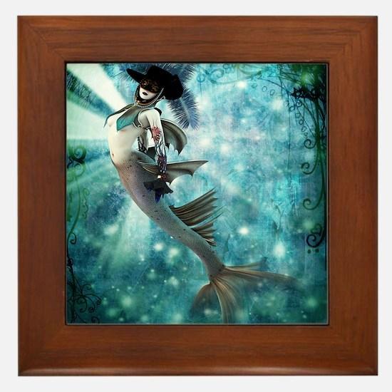 Carnival Mermaid Framed Tile