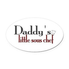 Daddy's Sous Chef Oval Car Magnet