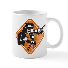 film crew cameraman shooting filming camera Mug