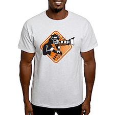 film crew cameraman shooting filming camera T-Shirt