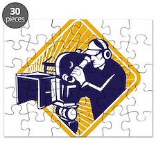 film crew cameraman shooting filming camera Puzzle