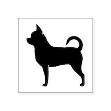 "Chihuahua Square Sticker 3"" x 3"""