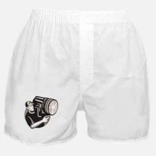 film crew with spotlight fresnel light Boxer Short