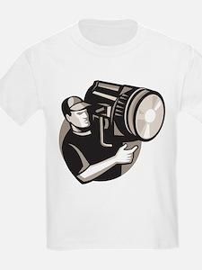 film crew with spotlight fresnel light T-Shirt