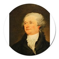 Founding Fathers: Alexander Hamilton Round Car Mag