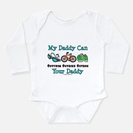 Cute Iron man triathlon Long Sleeve Infant Bodysuit