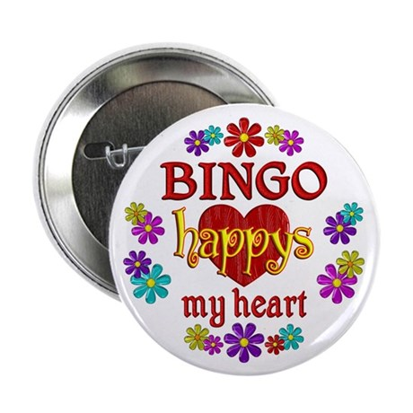 "BINGO Happy 2.25"" Button (10 pack)"