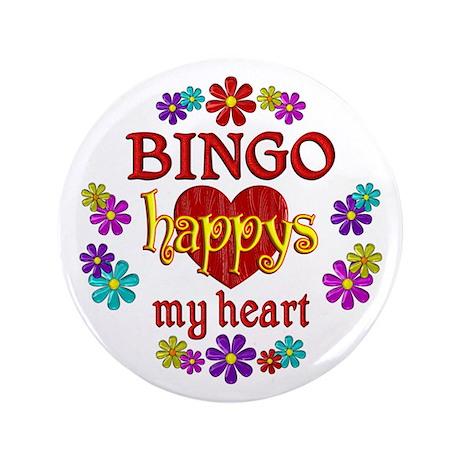 "BINGO Happy 3.5"" Button (100 pack)"