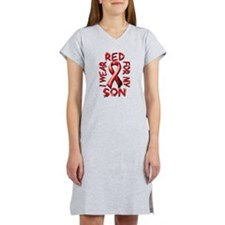 I Wear Red for my Son Women's Nightshirt