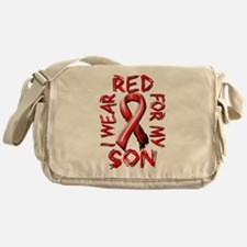 I Wear Red for my Son Messenger Bag