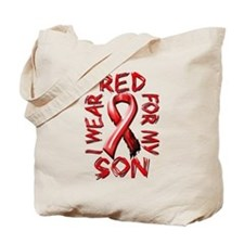I Wear Red for my Son Tote Bag