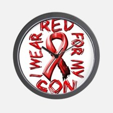 I Wear Red for my Son Wall Clock