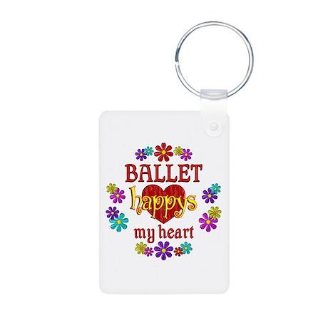 Ballet Happy Aluminum Photo Keychain