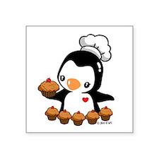 "Bake a Cupcake (2) Square Sticker 3"" x 3"""
