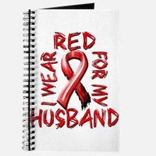 I Wear Red for my Husband Journal