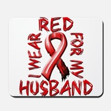 I Wear Red for my Husband Mousepad