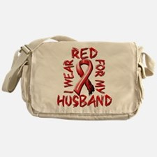 I Wear Red for my Husband Messenger Bag