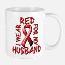 I Wear Red for my Husband Mug