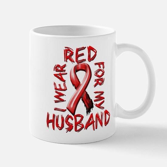 I Wear Red for my Husband Mug